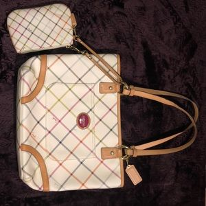 New Never Used Matching Coach Purse and Clutch